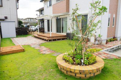 千葉県旭市 オリジナル花壇を中心としたリフォームプラン